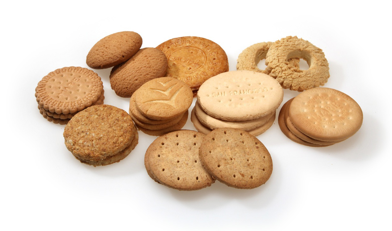 Round molded biscuits