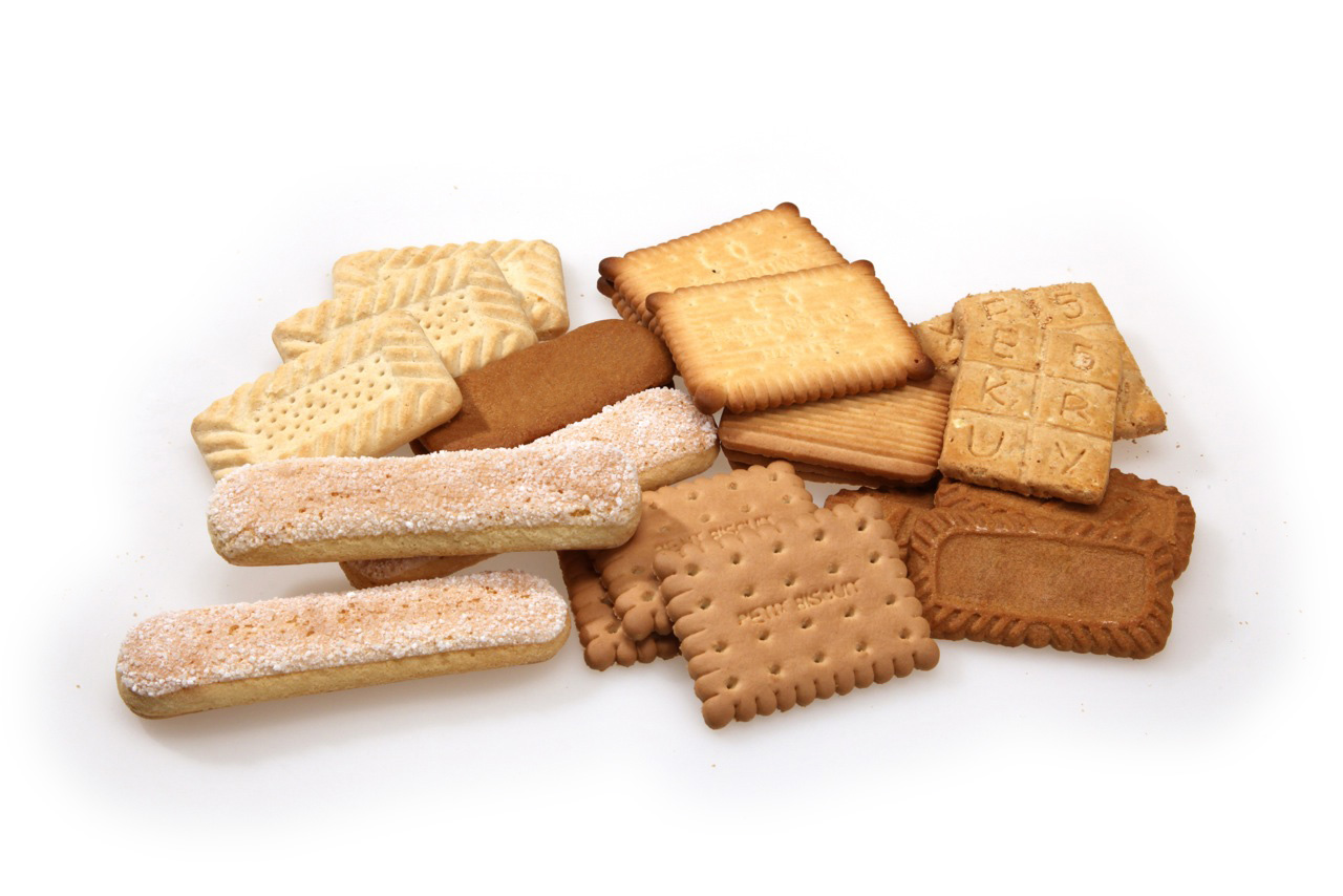 Rectangular molded biscuits