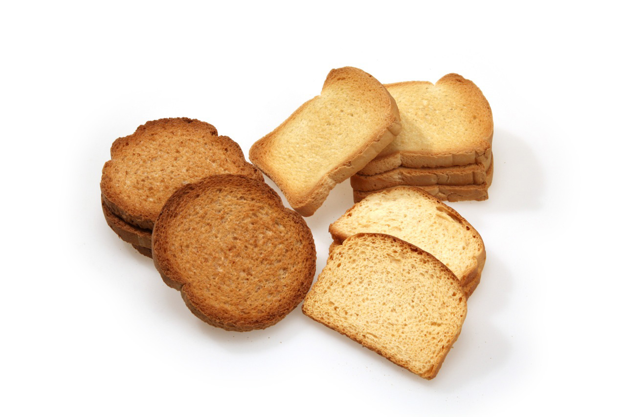 Rusks and toasted bread flowpack