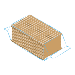 Rectangular biscuits packaging C10 R