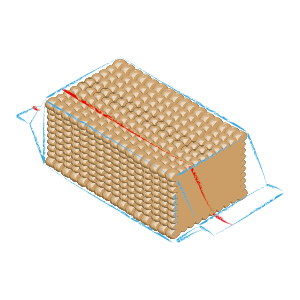 Rectangular biscuits packaging C11 R
